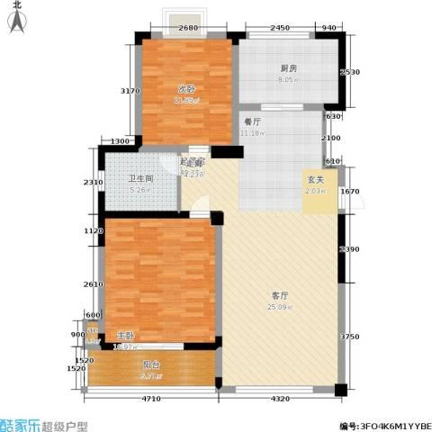 富海・城市印象2室0厅1卫1厨125.00㎡户型图