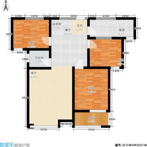 富海・城市印象3室0厅1卫1厨136.00㎡户型图