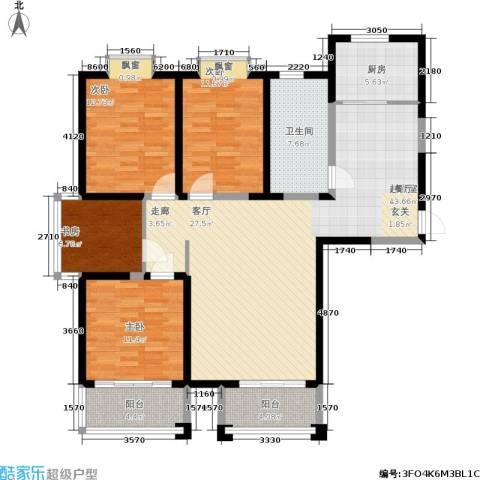 富海・城市印象4室0厅1卫1厨154.00㎡户型图