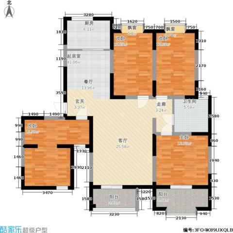 富海・城市印象4室0厅1卫1厨168.00㎡户型图