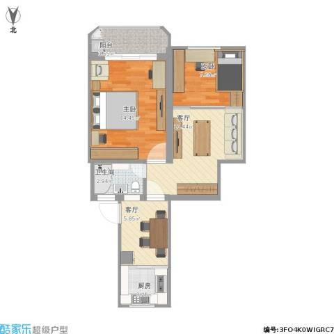共康五村2室2厅1卫1厨70.00㎡户型图