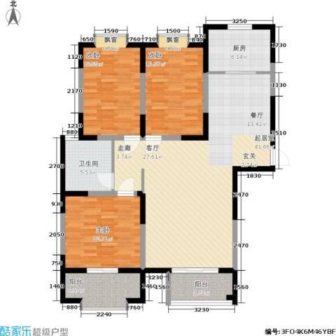 富海・城市印象3室0厅1卫1厨142.00㎡户型图
