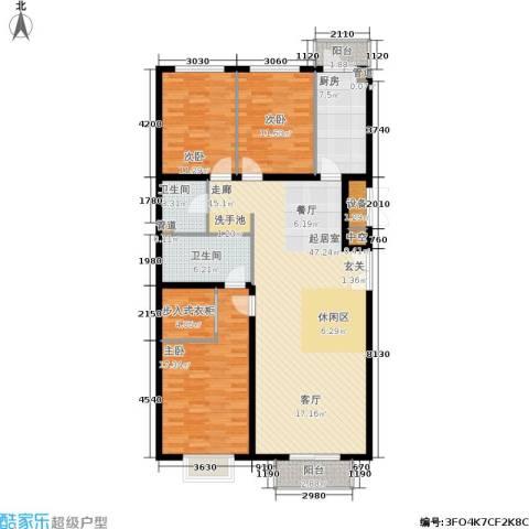 宏洋美都3室0厅2卫1厨162.00㎡户型图