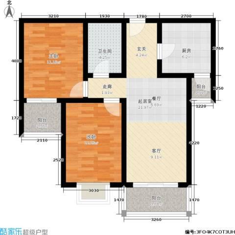 融和家园2室0厅1卫1厨73.54㎡户型图