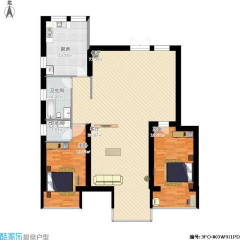 跃界2室1厅2卫1厨184.00㎡户型图