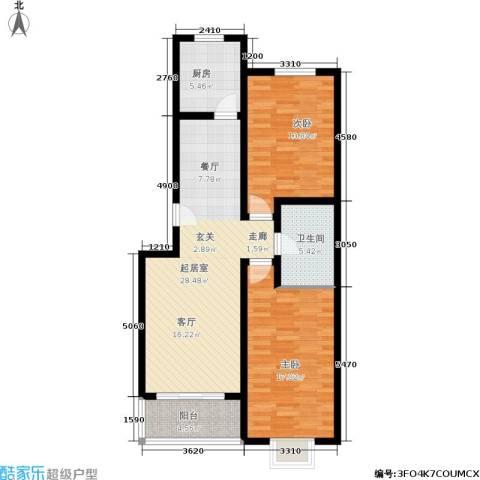 融和家园2室0厅1卫1厨85.81㎡户型图