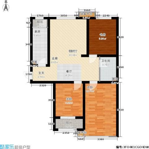 领世城邦3室1厅1卫1厨114.00㎡户型图