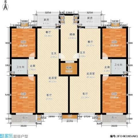 古冶金盛花苑4室0厅2卫2厨284.00㎡户型图