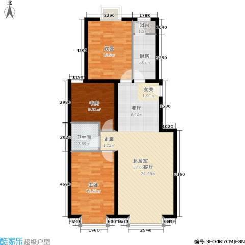 温莎公馆3室0厅1卫1厨118.00㎡户型图