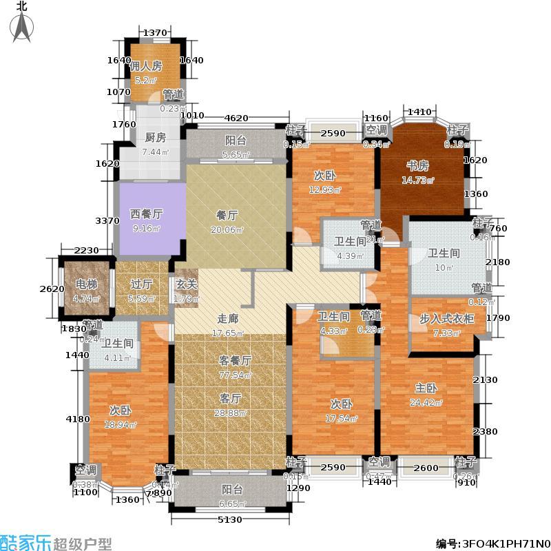 西郊紫薇花园268.00㎡G户型6室2厅