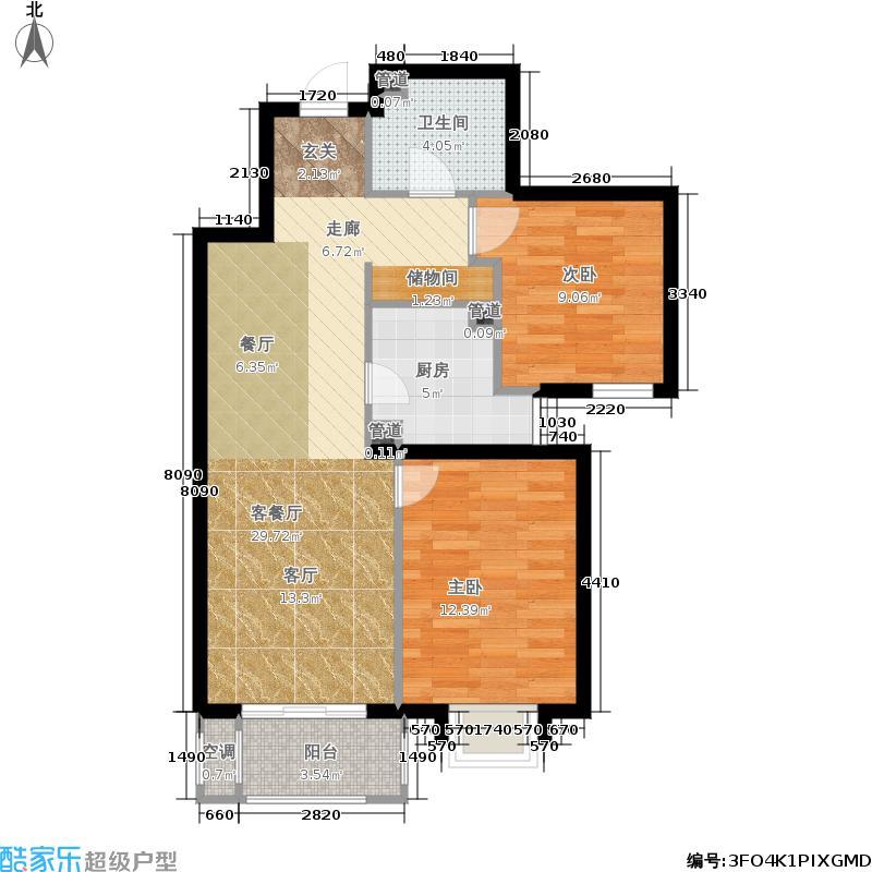 首创悦树湾83.00㎡2Z85-1户型2室2厅