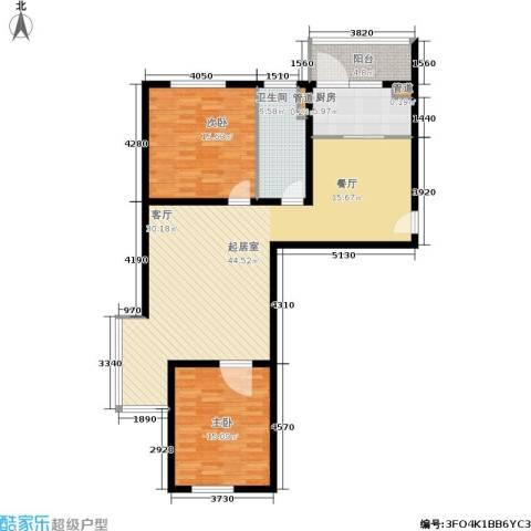 悦澜湾2室0厅1卫1厨105.00㎡户型图