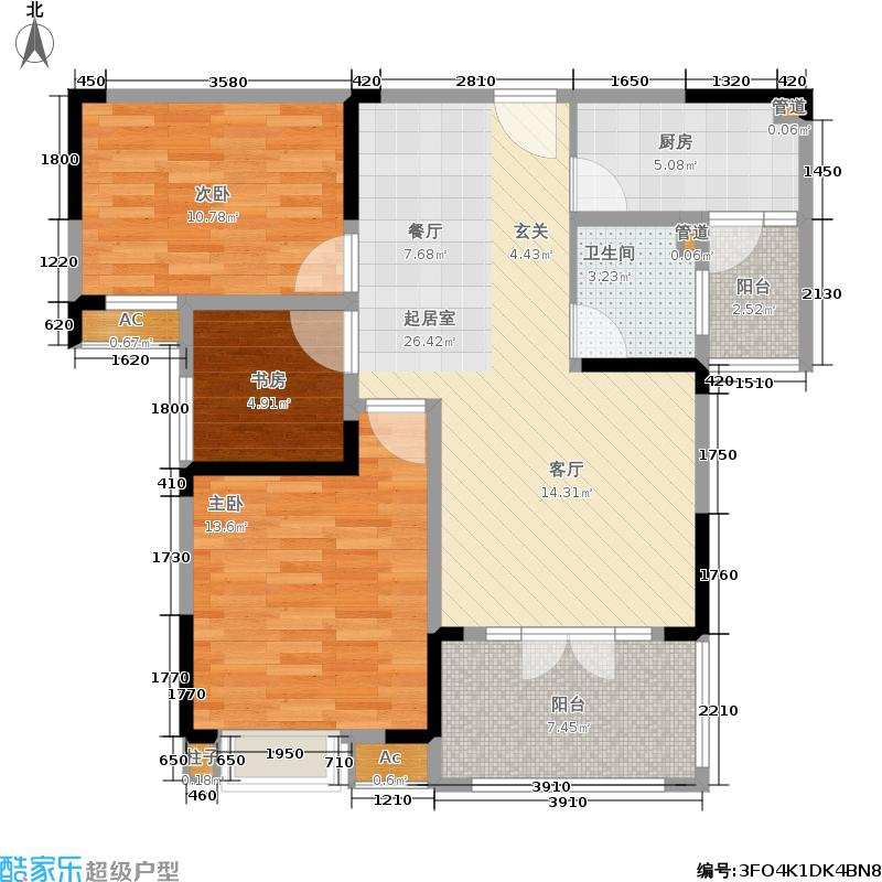 上品104.60㎡7#楼10#楼朝南E2户型
