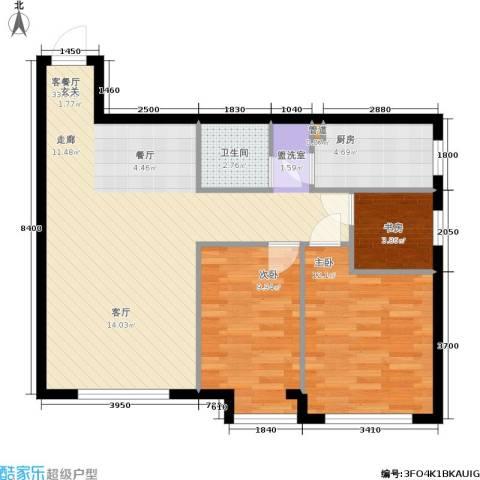 天朗国际广场3室1厅1卫1厨93.00㎡户型图