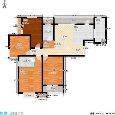 红星国际广场西苑4室0厅2卫1厨139.00㎡户型图