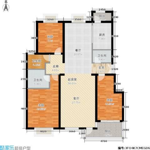 温莎公馆3室0厅3卫1厨183.00㎡户型图