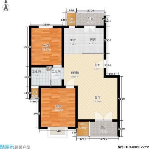 米兰新干线2室0厅1卫0厨100.00㎡户型图