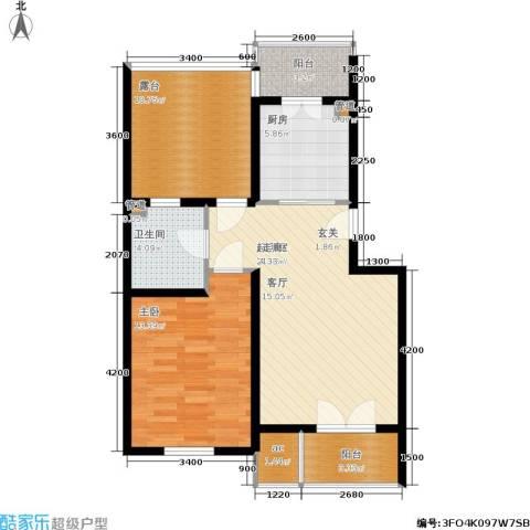 米兰新干线1室0厅1卫1厨70.00㎡户型图