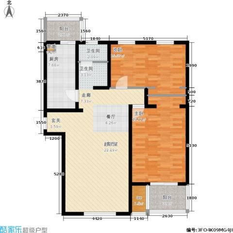米兰新干线2室0厅1卫1厨129.00㎡户型图