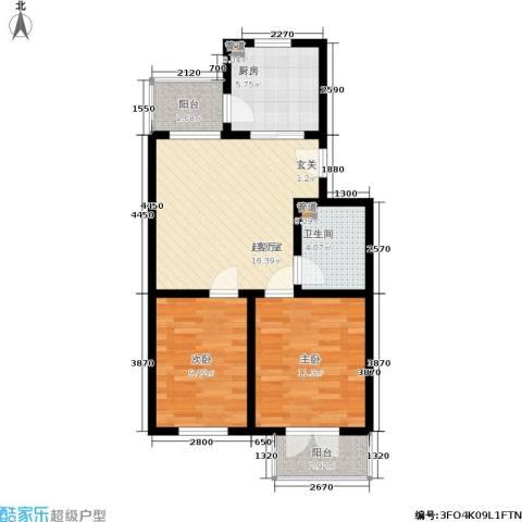 米兰新干线2室0厅1卫1厨78.00㎡户型图