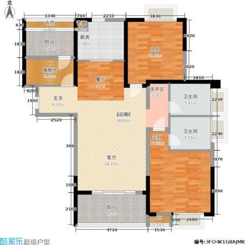 南山国际社区2室0厅2卫1厨128.00㎡户型图