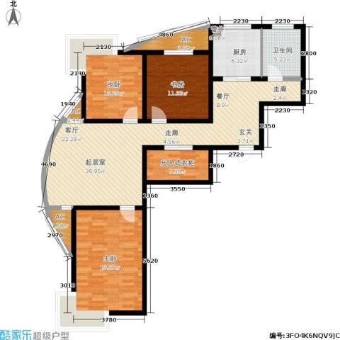众成格林星城3室0厅1卫1厨145.00㎡户型图