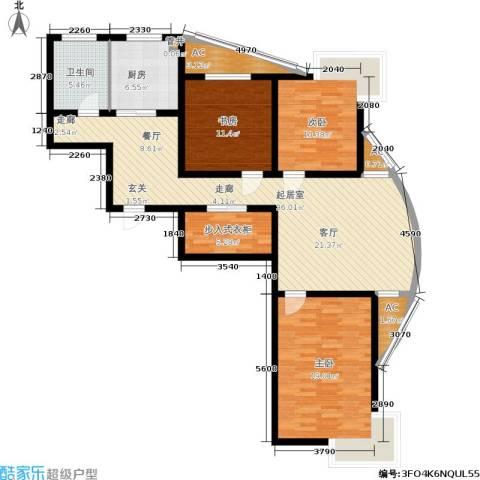 众成格林星城3室0厅1卫1厨116.00㎡户型图
