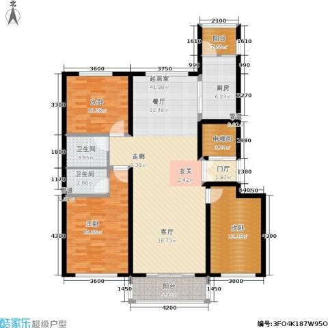 月亮湾3室0厅2卫1厨150.00㎡户型图