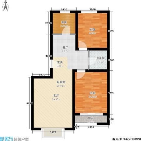 融和家园2室0厅1卫1厨69.41㎡户型图