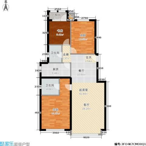 温莎公馆3室0厅2卫1厨141.00㎡户型图