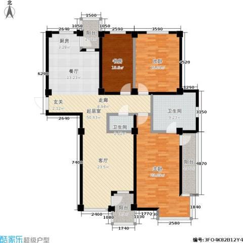 圣韬万福居二期3室0厅2卫0厨121.85㎡户型图