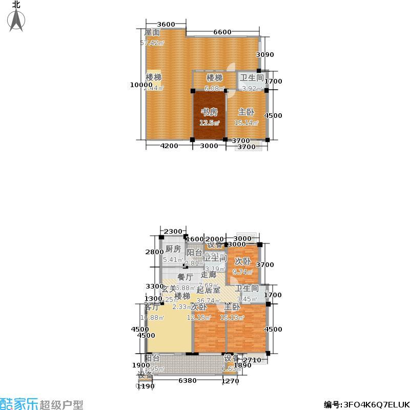 嘉鹏领城163.00㎡嘉鹏领城复式C2户型五房两厅三卫163平米户型5室2厅3卫