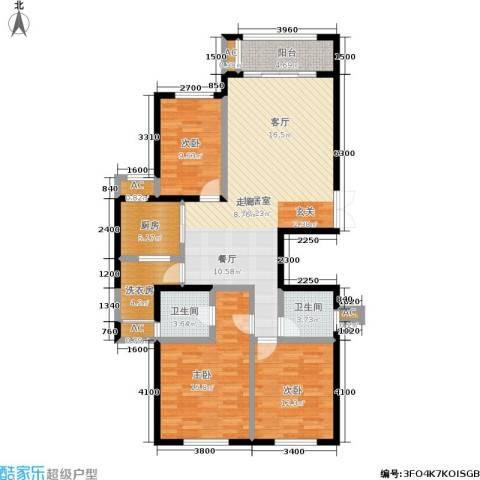 湘银纳帕溪谷3室0厅2卫1厨133.00㎡户型图