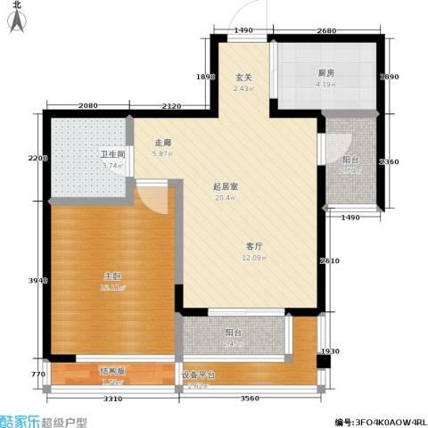 泊林映山1室0厅1卫1厨74.00㎡户型图