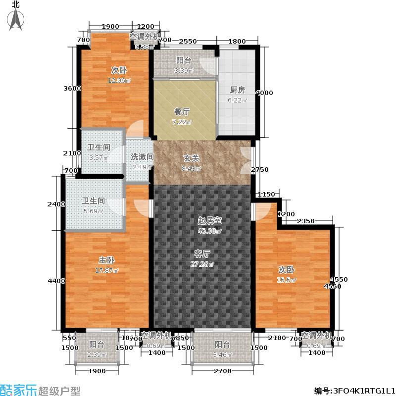 星河城(玺萌公馆)146.44㎡13号楼A02户型3室2厅