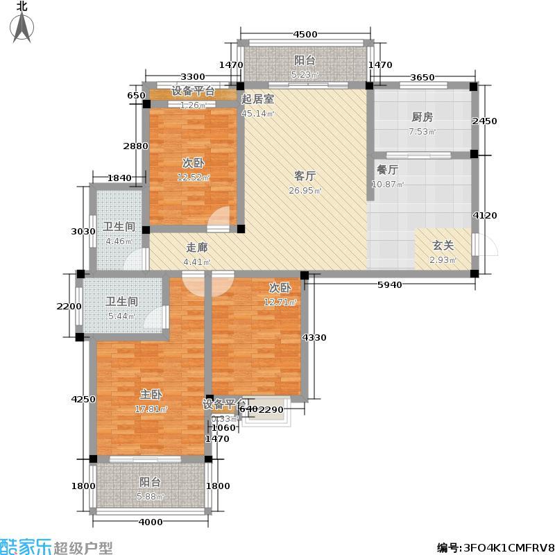 秀峰公园里137.00㎡秀峰・公园里7号楼A户型