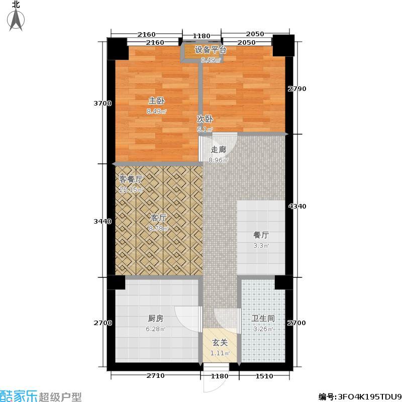 中唐创意广场公寓E户型