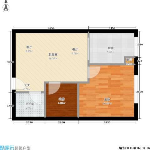 凤城国际广场2室0厅1卫1厨46.98㎡户型图