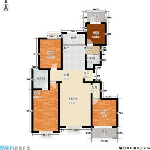 宏宇城4室0厅2卫1厨159.00㎡户型图