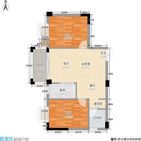 腾龙钻石广场2室0厅1卫1厨82.00㎡户型图