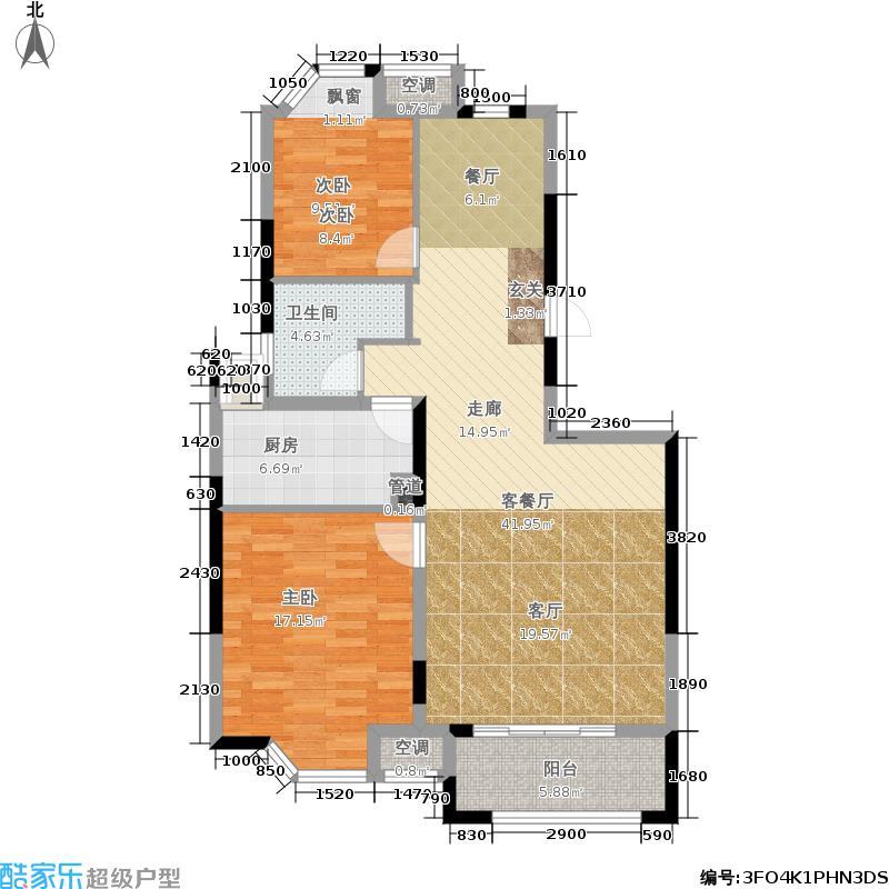 英伦风尚三期99.00㎡C1户型3室2厅