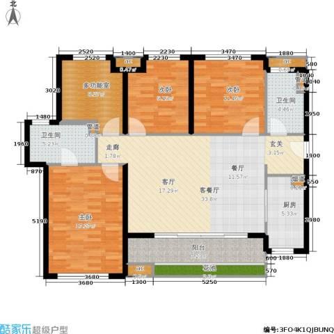 万科公园里3室1厅2卫1厨120.92㎡户型图