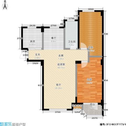 泊林映山2室0厅1卫1厨98.00㎡户型图