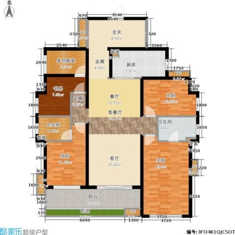 万科公园里4室1厅2卫1厨157.19㎡户型图