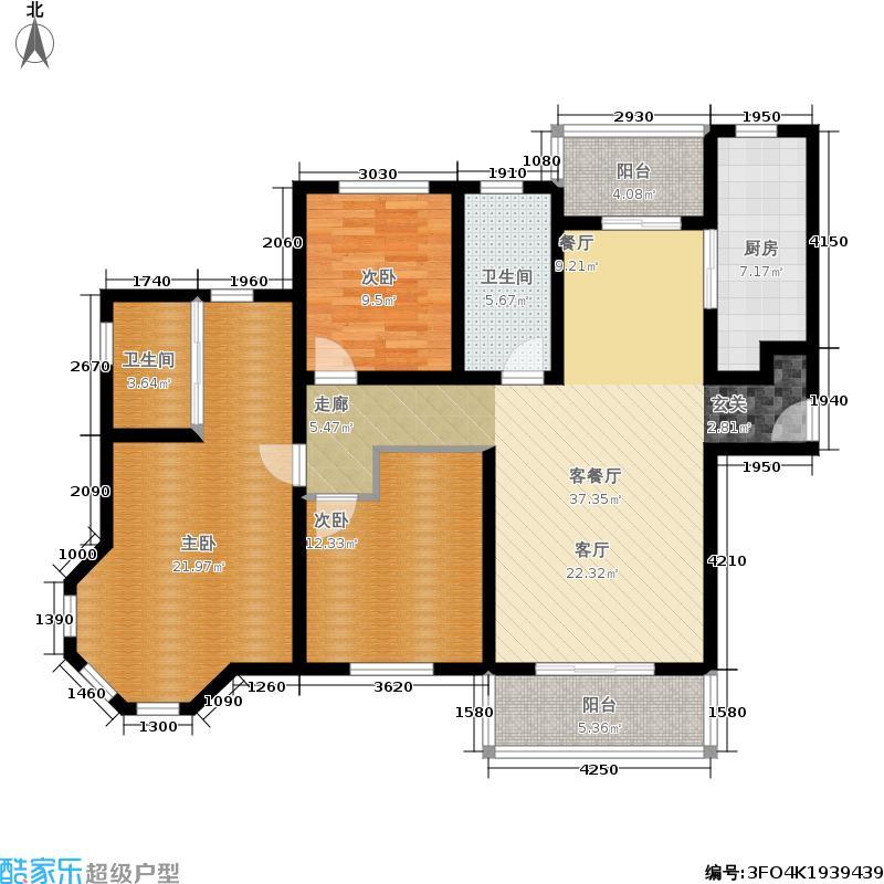 春申君临天下13#楼标准层D4-A户型