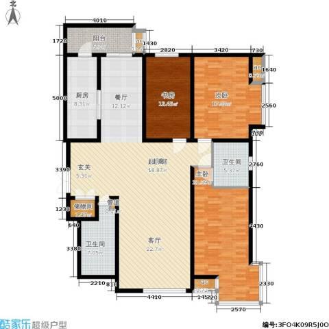 凯摩国际公寓3室0厅2卫1厨160.00㎡户型图