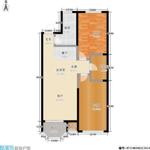 泊林映山2室0厅1卫1厨90.00㎡户型图