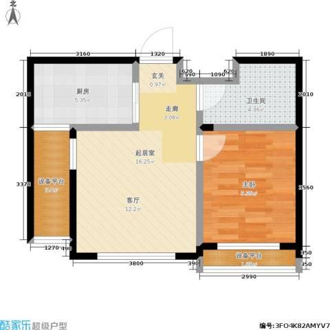 泊林映山1室0厅1卫1厨47.00㎡户型图