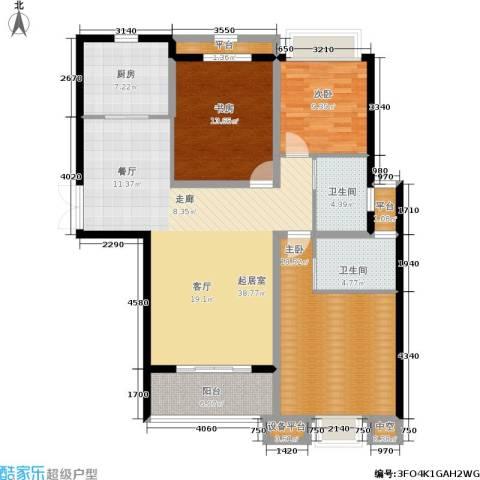 融侨华府3室0厅2卫1厨123.00㎡户型图