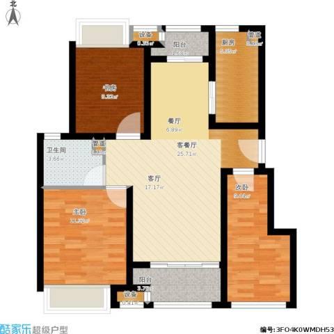 新城昱翠湾3室1厅1卫1厨104.00㎡户型图